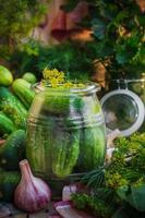 pickles jar outros ingredientes decapagem foto