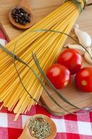 macarrão espaguete. foto