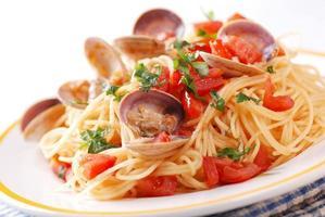 espaguete com amêijoas