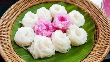 aletria de arroz fresco foto