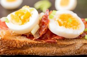 sanduíche com bacon foto