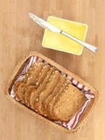 cesta de pão foto