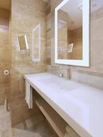 tendência do banheiro brilhante foto