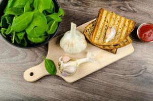 pão de alho panini foto