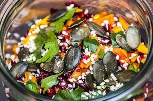 salada de abóbora foto