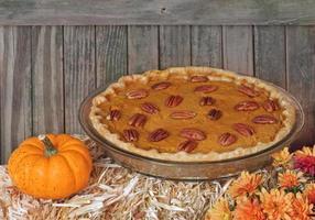torta de abóbora de outono foto