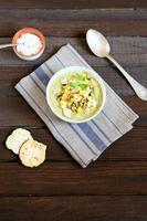 sopa de abobrinha de verão foto
