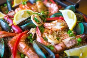 paella espanhola foto