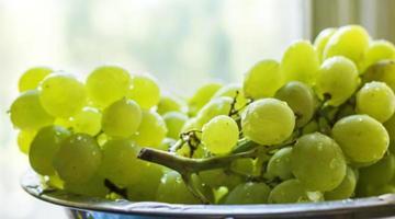 uvas verdes maduras foto