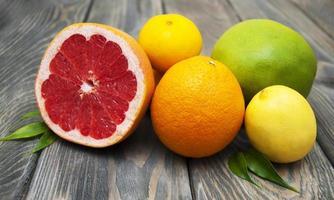 frutas cítricas foto