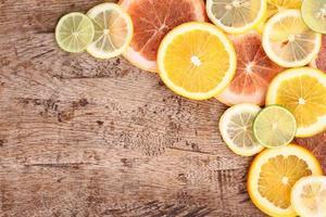 fundo de alimentos saudáveis, frutas cítricas foto