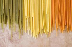 espaguete de massa italiana foto