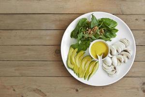 prato de salada de foguete foto