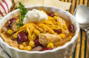 sopa de frango picante foto