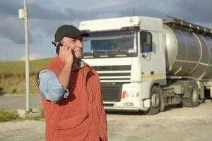 motorista de caminhão foto