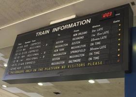 informações de trem foto