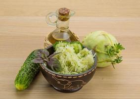 salada de couve-rábano foto