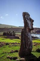 Ilha de Pascua. Rapa nui. ilha da Páscoa foto