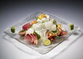 conjunto de sashimi de variedade