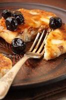 panquecas de queijo cottage foto