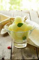 salada de frutas de melão foto