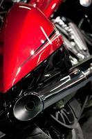 closeup de escape da motocicleta