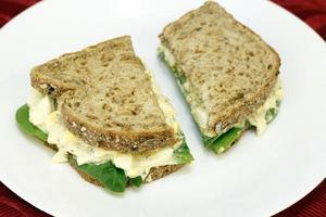 sanduíche de salada de ovo foto