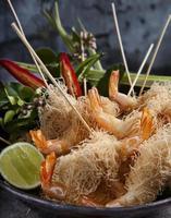 varas esfareladas de camarão foto