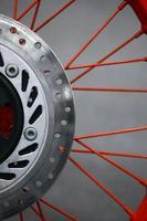 disco de freio da motocicleta foto