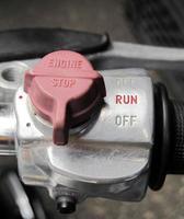 interruptor de controle da motocicleta foto