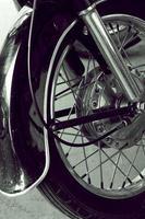 detalhe da motocicleta vintage