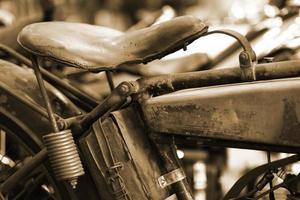 sela da motocicleta do vintage foto