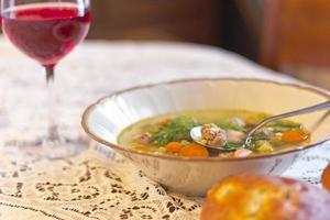 sopa de casamento italiano foto
