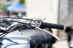 detalhe da motocicleta clássica foto