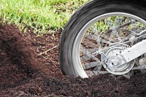 pneu da bicicleta da sujeira foto