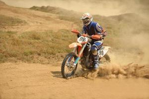 bicicleta de motocross foto