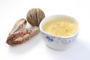 sopa de creme de espinafre foto