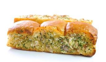 pão de alho e ervas foto