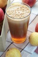 suco de maçã. foto