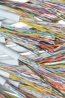 cabos de telecomunicações foto