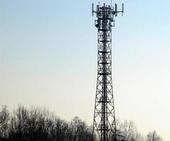 torre aérea de telecomunicações foto