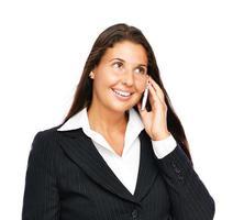 mulher de negócios, falando no celular
