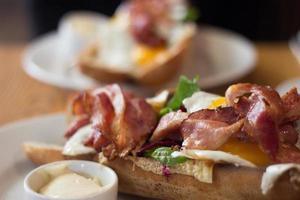 sanduíche de bacon gourmet foto
