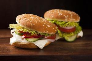 hambúrguer vegetariano foto