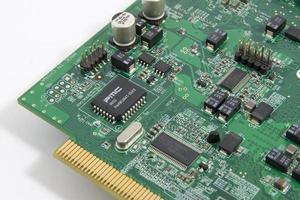 circuito eletrônico de computador foto