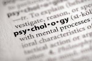 série de dicionário - ciência: psicologia foto
