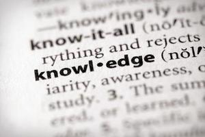 série de dicionário - ciência: conhecimento foto