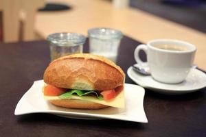 sanduíche de café da manhã foto