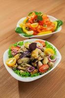 salada de mexilhões frescos