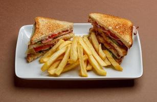 sanduíche de clube foto